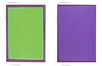 untitled (gruen) (+ untitled [violette]; 2 works) by anselm reyle